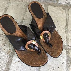 Carlos Santana Wedge Sandals Size 7